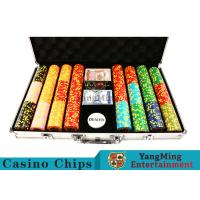 Quality 10,000Pcs 11.5g Clay Poker Chip Sets With Aluminum Case For Gambling Games for sale