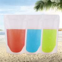 China Zipper Reusable Clear Drinking Beverage Bag / Transparent Plastic Bag For Cocktail wholesale