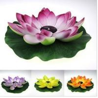 China Multi-Color RGB Garden Pool Floating Lotus Leaf Solar Powered LED lamp Flower Night Light Fountain Pond Solar Lighting wholesale