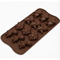China Dinosaur Holiday Silicone Chocolate Molds Brown Color Non Harmful wholesale