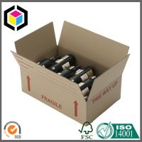 China Red Wine Bottle Corrugated Shipping Box; Flexo Color Print Shipping Box wholesale