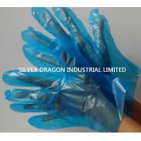 China Embossed Disposable gloves, Blue color, Size S,M,L wholesale