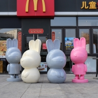 China Resin Cartoon Character Sculptures Spray Paint Animal Statues Outdoor wholesale