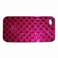 China PC Case with Diamonds, Ideal for iPhone 5, Fashionable Design wholesale
