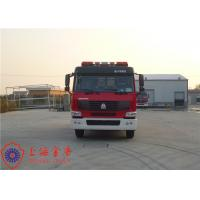 China Max Speed 90KM/H Tanker Fire Truck , Heavy Rescue Fire Truck Wheelbase 4600mm wholesale