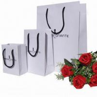 China Paper Gift Bag with Grosgrain Ribbon Handle, Customized Sizes and Designs Accepted wholesale