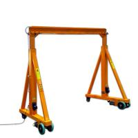 China 4 Wheels Mini Type Mobile Gantry Crane With Chain Or Wire Rope Hoist on sale