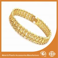 China Fashion Jewelry OEM Men Wide Metal Chain Bracelet 18k Gold Chain Radiation Protection wholesale