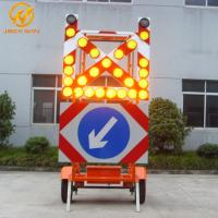 China Road Construction Mobile Solar Traffic Signal Directional Arrow / Cross Board Trailer wholesale