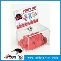 China Acrylic Comment/Donation /Collection/Ballot Box with Brochure Pocket and Lock wholesale