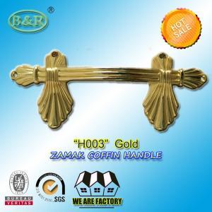 China European style zamak metal casket handle fitting H003 size 22.5*10.5cm color gold zinc alloy handle wholesale