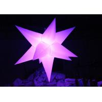China Different Size Hanging Inflatable Led Star 190 T Polyester Material For Party wholesale