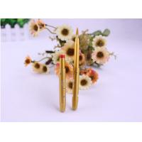 China Yellow Hair Color Ultra Fine Eyeliner Brush / Lip Liner Brush Retractable Metal Handle wholesale