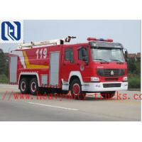 China HOWO 6x4 12m3 371HP Fire Fighting Truck Water Tank With Pumps Ladders EUROIII wholesale