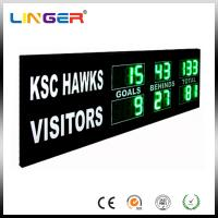 Buy cheap Green Digit AFL Electronic Cricket Scoreboard Portable Football Scoreboard from wholesalers