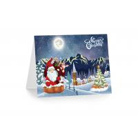 Quality Greeting Card Lenticular Printing Services PP Plastic X-mas Design for sale