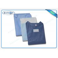 China 100% PP , SMS Non Woven Medical Fabric Sterile Disposable Surgical Gown Sauna Dress wholesale