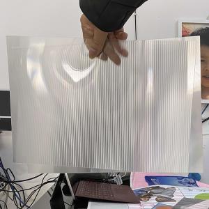 China Super transparency lenticular sheet clear PET Lenticular 75 lpi lens sheet 3D flip lenticular lens sheet wholesale