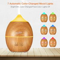 China Large Room Wood Grain Mini Ultrasonic Essential Oil Diffuser / Auto Shut Off Ultrasonic Cool Mist Humidifier wholesale