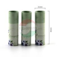 China Biodegradable Kraft Paper Lip Balm Tube With CMYK Printing Offset on sale
