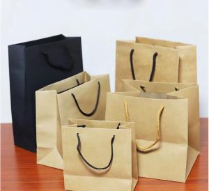 China High Durability Custom Printed Kraft Paper Bags Eco Friendly High Tear Resistance on sale