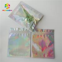 China Brightly Laser Cosmetic Packaging Bag  With Clear Front / Back Holographic wholesale