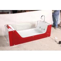 China Red rectangle Air Bubble Bathtubs ABS Acrylic Jaccuzi for bathroom 87 x 182 X 72 wholesale