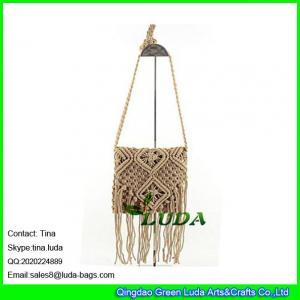 China LDMX-006 cotton beach bag 2016 fashion brown straw bag mini shoulder bag wholesale