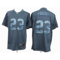 China nike nfl houston texans 23 Foster blue drenched jersey wholesale
