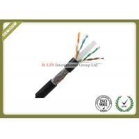 Quality Outdoor Network Fiber Cable Cat6 SFTP Lan Cable 1000ft With Double Jacket PVC / PE for sale