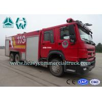 China 266Hp Water and Form Fire Fighting Truck Howo Left Hand Drive 10Tons - 17Tons on sale