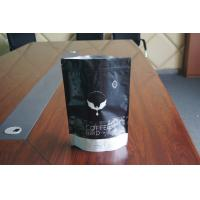 China Stand Up Matte Black Foil Pouch Packaging , Ziplock Window Coffee Bag  Packaging wholesale