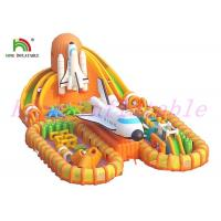China Fire - Retardant Giant  Inflatable Sports Games / Launching Base Unique  Blow Up Obstacle Course wholesale