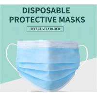 China Manufacturer CE/ FDA Medical 3Ply Earloop Mouth Mask 3 Layer Disposable 3 ply Medical Face Mask wholesale