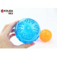 China Flasing Floats Bright TPR Bouncy Pet Toys Light Up Dog Ball Orange / Blue on sale