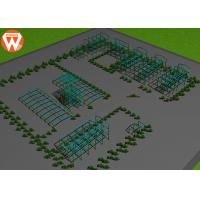 China Painted Animal Feed Equipment / Prefab Q255 Light Steel Structure Workshop wholesale