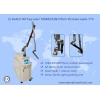 China Pure White Q Switch Tattoo Removal Machine , Tattoo Laser Removal Equipment 1-10Hz wholesale