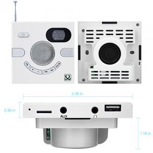 Wall Speaker Switch Design Portable Multi-functional Stereo Speaker FM Time Display TF Card USB FLASH AUX 3.5mm Soundbar