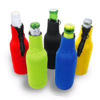 China Cans Use and  Insulated Type 330ml Neoprene wine cooler size is 19cm*6.3cm, SBR material. wholesale
