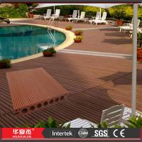 China Brushed / Embossed WPC Composite Wood Decking 140 * 25mm Waterproof For Yard wholesale