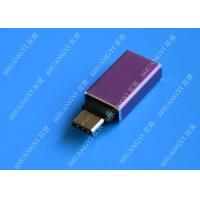 China MacBook Nexus 5X / 6P Type C Micro USB Purple Metal USB C to USB A 3.0 wholesale