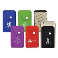 China Smart Wallet Mobile Card Holder , Silicone ID Card Holder Pocket Pouch Design wholesale