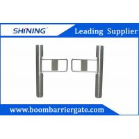 China Supermarket Swing Barrier Gate / Traffic Barrier Gate With Barcode Scanner wholesale