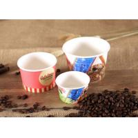 Buy cheap Logo Printing Disposable Bowls For Hot Soup , Individual Paper Soup Bowls from wholesalers