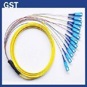 China Fiber Optic Pigtail -SC/PC- 12 Cores Fanout wholesale