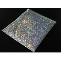 China 220x160mm Shiny Holographic Bubble Envelope Mailers with Zipper Cosmetic Bubble Jiffy Bag on sale