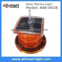 China 2-3NM Amber Solar Marine Aquaculture Beacon Light With Bird Spike Solar Navigation Warning Lamp for Ship Boat wholesale