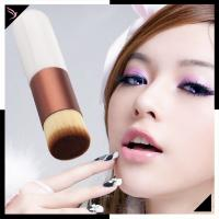 China Flat Foundation Cream Shadow Brush Explosion Models Chubby White Handle Color wholesale