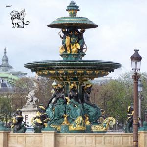 China Large Bronze Poseidon Water Fountain Garden Figure Paris Fontaine des Fleuves Fountains Outdoor Decorative wholesale