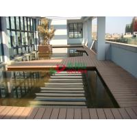 China Anti - UV Hollow WPC Garden Decking Corrosion Resistance Convenient Processing wholesale